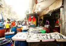 BUTUH REVITALISASI: Salah satu sudut Pasar Pabean Surabaya. Belum tersentuh program revitalisasi 1.000 Pasar tradisional. | Foto: Ist
