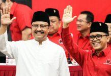 BYE BYE ANAS: Gus Ipul-Azwar Anas saat diumumkan bakal diusung PDIP di Pilgub Jatim 2018. Jelang pendaftaran tiba-tiba Anas mundur. | Foto: Ist