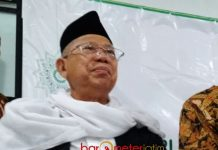 POLITIK UANG TIDAK BOLEH: Ketua Umum MUI, KH Ma'ruf Amin, mahar politik sama saja dengan politik uang. | Foto: Barometerjatim.com/ENEF MADURY