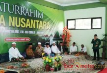 SIAP CAWAPRES: Muhaimin Iskandar membeber alasannya bakal maju sebagai bakal calon wakil presiden pada Pilpres 2019 di Ponpes Progresif Bumi Sholawat Sidoarjo, Sabtu (31/3). | Foto: Barometerjatim.com/ENEF MADURI