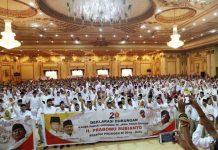 DORONG PRABOWO MAJU DI PILPRES 2019: Ribuan kader Partai Gerindra se-Jatim melakukan deklarasi dukungan, meminta Prabowo Subianto maju di Pilpres 2019. | Foto: Ist