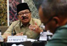 LANTIK PJ BUPATI: Gubernur Jatim, Soekarwo akan melantik empat penjabat (Pj) bupati di Gedung Negara Grahadi, Selasa (13/3) hari ini. | Foto: Ist
