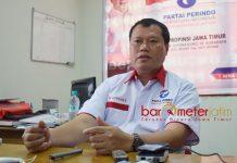 PILIH DUKUNG NOMOR DUA: HM Mirdasy, Perindo mengarahkan dukungan ke pasangan Gus Ipul-Puti di Pilgub Jatim 2018.   Foto: Barometerjatim.com/RETNA MAHYA