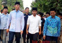 SAFARI POLITIK: Emil Dardak beriringan dengan safari politik AHY di Jatim. Menangkan Khofifah-Emil menjadi prioritas AHY maupun SBY. | Foto: Barometerjatim.com/ABDILLAH HR