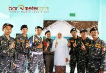TEKAD MENANGKAN KHOFIFAH: Banser Surabaya satu komando: Menangkan Khofifah-Emil di Pilgub Jatim 2018. | Foto: Barometerjatim.com/ROY HASIBUAN