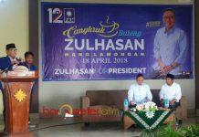SAFARI POLITIK DI LAMONGAN: Emil Dardak dan Zulkifli Hasan dalam safari politik di Kabupaten Lamongan, Rabu (18/4). | Foto: Barometerjatim.com/ROY HASIBUAN