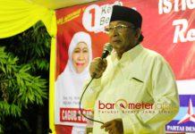 TEKAD HATTRICK: Haji Masnuh, PKB tidak bisa menghalangi pasangan Khofifah-Emil memenangi Pilgub Jatim di Sidoarjo dan Jatim. | Foto: Barometerjatim.com/ROY HASIBUAN