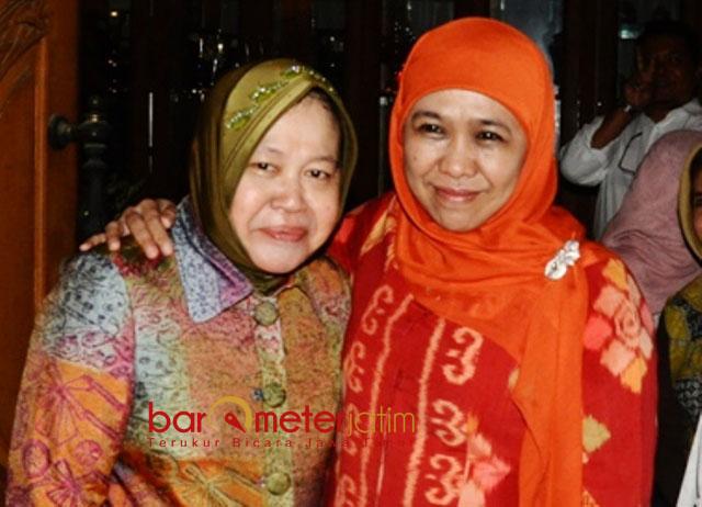 JELANG PILWALI: Tri Rismaharini silaturahim ke kediaman Khofifah di Jemursari, Surabaya, jelang maju di Pilwali Surabaya 2015. | Foto: Barometerjatim.com/DOK