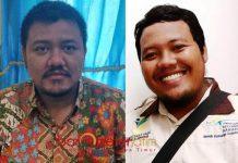 TAK ADA URUSAN DENGAN PILGUB: Bayu Kurniawan (kiri) dan Kholis Fahmi, bantah pendamping PKH terlibat dukung mendukung di Pilgub Jatim 2018. | Foto: Barometerjatim.com/HAMIM ANWAR