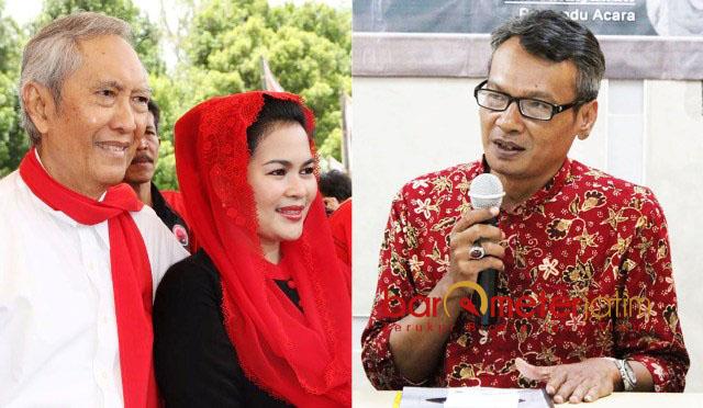 USUNG ISU USANG: Mochtar W Oetomo (kanan), simbol kekuatan Nasionalis-Islam yang diusung Guntur Soekarno isu usang. | Foto: Barometerjatim.com/ROY HASIBUAN/IST