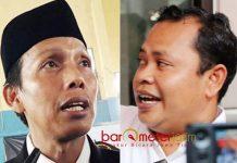 MASIH DIKAJI: Imam Ghozali (kiri) dan Toni Wijaya, rekomendasi Panwaslu Lamongan masih dikaji KPU. | Barometerjatim.com/ ABDILLAH HR/IST
