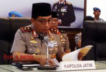 BURU TERORIS: Kapolda Jatim, Irjen Pol Machfud Arifin terus memburu jaringan teroris pasca teror bom di Surabaya dan Sidoarjo. | Foto: Barometerjatim.com/ABDILLAH HR