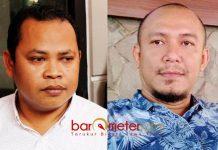 REKOMENDASI KOK LUCU: Toni Wijaya (kiri) dan Dani Omenk, rekomendasi yang dikeluarkan Panwaslu Lamongan lucu! | Foto: Barometerjatim.com/HAMIM ANWAR