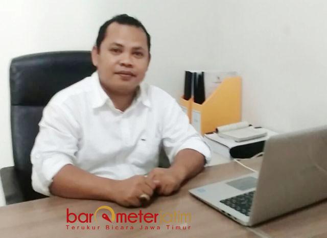 TAK ADA PIDANA PEMILU: Ketua Panwaslu Lamongan, Tony Wijaya, tak ada pidana Pemilu terkait laporan dugaan pelibatan PKH dalam Pilgub Jatim.   Foto: Barometerjatim.com/ HAMIM ANWAR