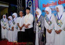 PENGHAFAL AL QUR'AN: Emil Dardak menghadiri peringatan wisuda tahfidz 30 juz dan Nudzulul Qur'an di Ponpes An-Nur, Probolinggo, Minggu (3/6). | Foto: Barometerjatim.com/ROY HASIBUAN