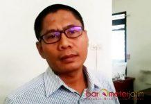SEBUT PANWASLU DISKRIMINATIF: Khoirul Huda, tuding Panwaslu Lamongan diskriminatif dalam menangani laporan dugaan pidana Pemilu. | Foto: Barometerjatim.com/HAMIM ANWAR
