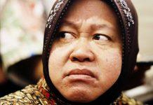 'BLUNDER' KEMINTER: Wali Kota Surabaya, Tri Rismaharini gagal mengantarkan Gus Ipul-Puti Guntur Soekarno menang di Kota Surabaya. | Foto: Ist