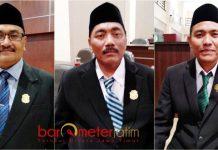ANGGOTA BARU DPRD LAMONGAN: (Dari kiri) Kadam Mustoko, Sujono dan Sirodjudin. Angguta baru DPRD Lamongan hasil PAW. | Foto: Barometerjatim.com/HAMIM ANWAR