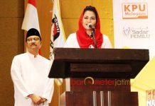 PILIH TAK HADIR: Pasangan Saifullah Yusuf-Puti Guntur Soekarno, malam nanti tak menghadiri penetapan yang digelar KPU Jatim. | Foto: Barometerjatim.com/ROY HASIBUAN