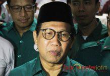 DIPANGGIL KPK: Halim Iskandar, dipanggil KPK sebagai saksi kasus gratifikasi Bupati nonaktif Nganjuk, Taufiqurrahman. | Foto: Barometerjatim.com/ROY HASIBUAN