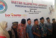 RUMAH BESAR IKA PMII: Peresmian Rumah Besar Pergerakan Ikatan Alumni Mahasiswa Islam Indonesia (Ika PMII) Lamongan, Jumat (13/7). | Foto: Barometerjatim.com/HAMIM ANWAR