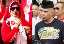 BAKAL HADIRI DEKLARASI: Neno Warisman dan Ahmad Dhani diagendakan menghadiri Deklarasi Akbar #2019GantiPresiden di Tugu Pahlawan, Surabaya, Minggu (26/8). | Foto: IST