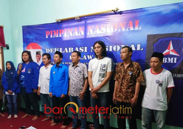 RELAWAN PRABOWO-SANDIAGA: Barisan Bintang Mercy Indonesia (BMI) menggelar Deklarasi Nasional Relawan Prabowo-Sandiaga di Surabaya, Jumat (9/8). | Foto: Barometerjatim.com/NANTHA LINTANG