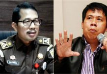 KEJATI JATIM JANGAN RAGU: Didik Farkhan Alisyahdi (kiri) dan Uchok Sky Khadafi, jangan ragu tuntaskan kasus mega korupsi P2SEM. | Foto: Barometerjatim.com/DOK