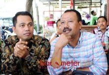 HUBUNGAN BAIK: Alfa Isnaeni (kanan) dan Hendro Tri Subiantoro, Banser tak terlibat secara formal penolakan deklarasi #2019GantiPresiden di Surabaya. | Foto: Barometerjatim.com/ROY HASIBUAN