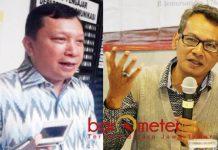 JANGAN NGGEGE MONGSO: Mochtar W Oetomo (kanan), Fandi Utomo (kiri) dan PKB bisa dianggap nggege mongso soal Pilwali Surabaya 2020. | Foto: Barometerjatim.com/ROY HASIBUAN