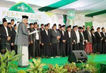 TAK DIHADIRI PAKDE KARWO: Pelantikan pengurus PWNU Jatim masa khidmat 2018-2023 di Ponpes Mambaul Ma'arif, Jombang, Selasa (18/9). | Foto: IST