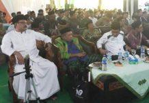 DUKUNG PROGRAM KHOFIFAH: Gus Ipul (kiri) dia acara pelantikan PWNU Jatim di Jombang. Ajak PWNU dukung program-program KHofifah. | Foto: IST