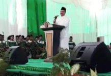 BUKAN REKOMENDASI SOEKARWO: Gus Ipul di acara pelantikan PWNU Jatim masa khidmat 2018-2023 di Ponpes Mambaul Ma'arif, Jombang, Selasa (18/9). | Foto: IST