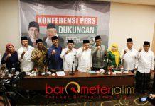 KIAI-SANTRI: Dukungan Jaringan Kiai Santri Nasional (JKSN) untuk Jokowi-Kiai Ma'ruf di Hotel Namira, Surabaya, Jumat (21/9). | Foto: Barometerjatim.com/ROY HASIBUAN