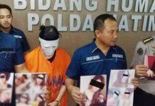 RATU MUCIKARI: Keyko saat ditangkap Subdit V/Siber Ditreskrimsus Polda Jatim dalam kasus prostitusi. | Foto: IST