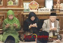 SINYAL KHOFIFAH CAPRES: KH Ma'ruf Amin bersilaturahim ke Pondok Pesanren Amanatul Ummah, Pacet, Mojokerto asuhan KH Asep Saifuddin Chalim, Rabu (29/9). | Foto: Barometerjatim.com/MARIJAN AP