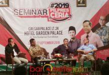 PILPRES CERIA: Seminar #2019PilpresCeria di Surabaya, Senin (17/9). Golput hanya menguntungkan kaum penjahat. | Foto: Barometerjatim.com/ENEF MADURY