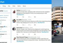 PASAR TURI DISOROT: Kondisi stan yang sepi dan kemelut tak berujung Pasar Turi membuat hastag #SavePasarTuri jadi trending topic di Twitter. | Foto: Barometerjatim.com/DOK/TWITTER