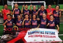 TURNAMEN FUTSAL: Komunitas Wartawan Sidoarjo target juara di Turnamen Futsal Antarpokja 2018 di Surabaya, | Foto: Barometerjatim.com/RADITYA DP