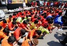 RINGKUS BANDIT JALANAN: Polrestabes Surabaya ringkus 290 bandit jalanan jelang kampanye Pemilu 2019. | Barometerjatim.com/NANTHA LINTANG