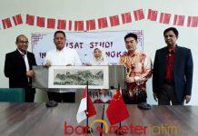 UINSA SURABAYA: Launching Pusat Studi Indonesia-Tiongkok Universitas Islam Negeri Sunan Ampel Surabaya, Selasa (18/9). | Foto: Barometerjatim.com/ABDILLAH HR