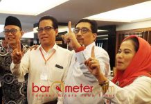70 PERSEN KEMENANGAN: Tim Kampanye Daerah (TKD) Jokowi-Ma'ruf, target kemenangan 70 persen di Jawa Timur.   Foto: Barometerjatim.com/NANTHA LINTANG