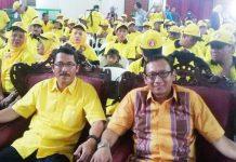 SAMBUT GEMBIRA: Ujik Silvian Effendy (kanan), Golkar Lamongan sambut gembira eks napi korupsi diperbolehkan nyaleg. | Foto: IST