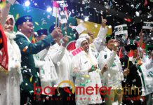 JKSN DKI JAKARTA: Deklarasi JKSN Jakarta di Istora Senayan, Jakarta, Rabu (19/12). Bersatunya NU kultural untuk pemenangan Jokowi-Ma'ruf Amin di Pilpres 2019.   Foto: Barometerjatim.com/ROY HASIBUAN