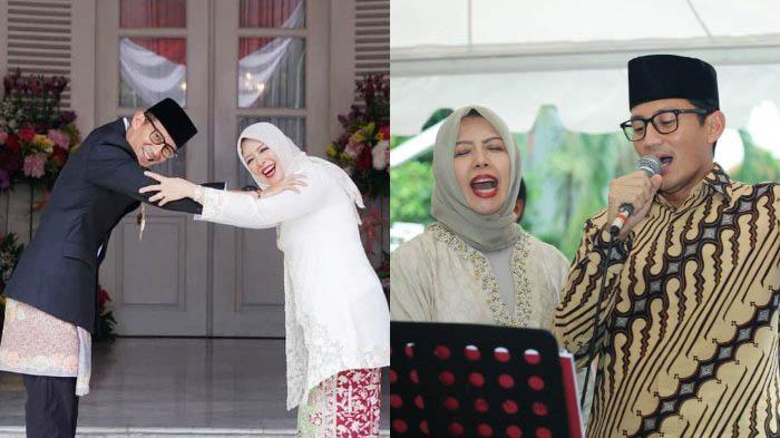 RUMAH TANGGA IDAMAN: Sandiaga Uno dan istrinya, Nur Asia Uno yang selalu kompak dan terlihat mesra.   Foto: IST