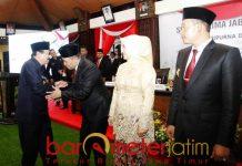 Soekarwo menghadiri sertijab bupati Sampang, Kamis (31/1). | Foto: Barometerjatim.com/abdillah hr