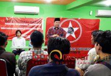 Fandi Utomo, konsolidasi Pemuda Demokrat Indonesia di Surabaya. | Foto: Barometerjatim.com/natha lintang