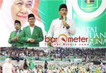 Gus Habib (tengah, foto atas), memiliki kesamaan jalur politik dengan Khofifah.   Foto: Barometerjatim.com/roy hs