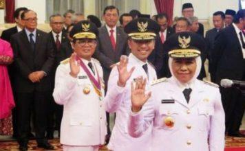 Khofifah dan Emil Dardak resmi gubernur dan wakil gubernur Jawa Timur. | Foto: Ist