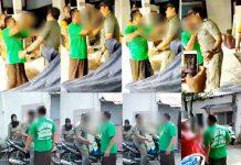 Penggalan video penganiayaan terhadap seorang staf di Kelurahan Krembangan Utara.   Foto: Ist